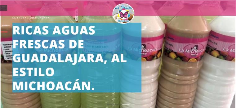 Servicio de aguas frescas,enbotelladas, estilo michoacán.